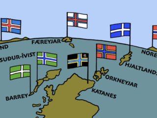 Det nordiske korsflag i vikingernes fodspor