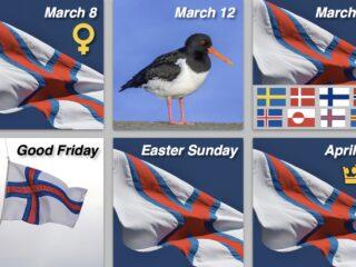 Vårens mange færøske flagdage